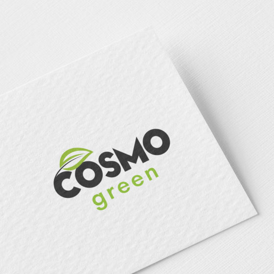 Σχεδιασμός Λογοτύπου για την Cosmo Green στην Καρδίτσα.