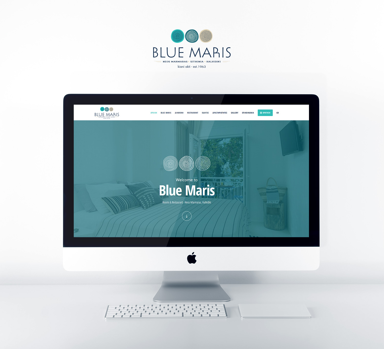 Κατασκευή Ιστοσελίδας για τα ενοικιαζόμενα δωμάτια Blue Maris στον Νέο Μαρμαρά.