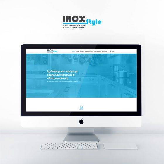 Κατασκευή ιστοσελίδας για την εταιρεία Inox Style στη Λάρισα.